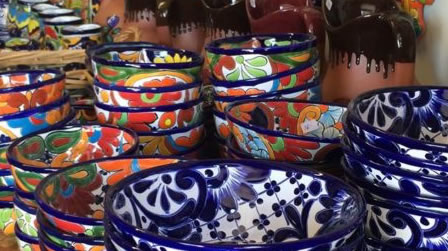 Colorful Mexican dishes