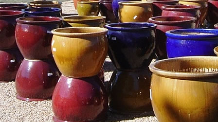 Endless pottery options at First Monday