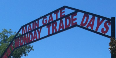 The main gate at First Monday Trade Days in Canton, Texas