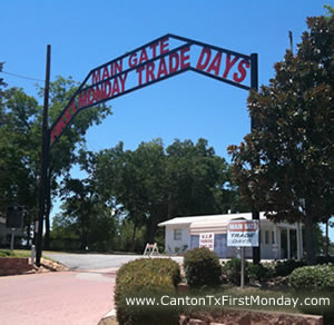The main gate into First Monday Trade Days in Canton Texas