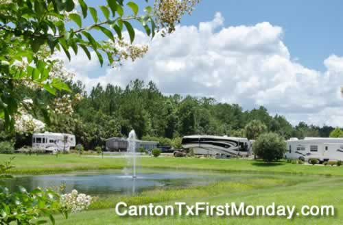 Canton Texas First Monday Trade Days RV parks, resorts and campgrounds