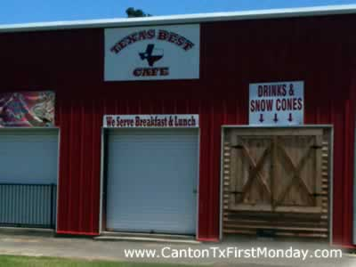 Texas Best Cafe on the grounds of Canton First Monday Trade Days