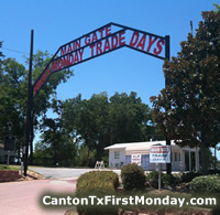 First Monday Trade Days ... main gate, Canton, Texas